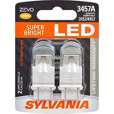 SYLVANIA ZEVO 3457 Amber LED Bulb, (Contains 2 Bulbs)
