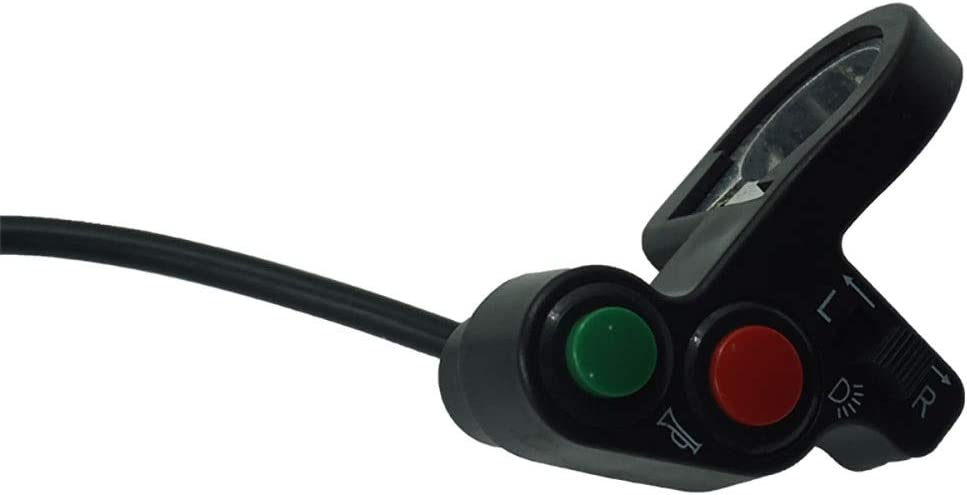 Couleur : Noir BMD-Store 7//8 pouces moto commutateur v/élo /électrique scooter atv quad lumi/ère clignotant klaxon bouton on//off pour 22mm guidon dia Haute qualit/é