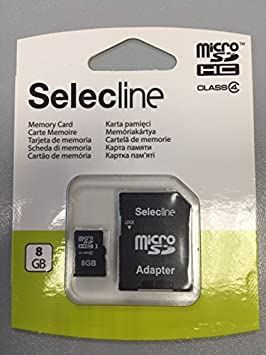Selecline 3245678896495 Memoria Flash 8 GB MicroSD Clase 4 - Tarjeta de Memoria (8 GB, MicroSD, Clase 4): Amazon.es: Informática