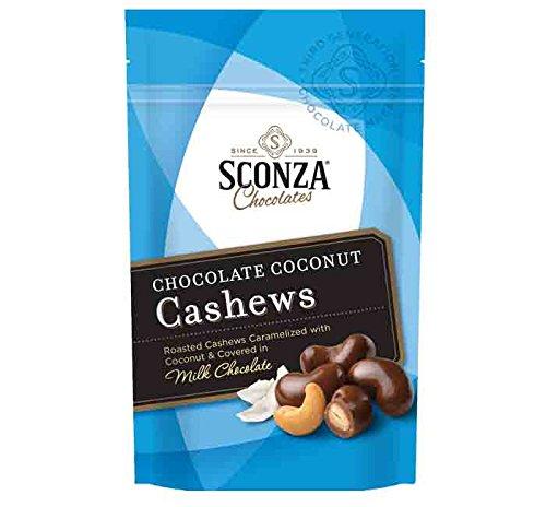Sconza Milk Chocolate Coconut Cashews 4.5oz Bag