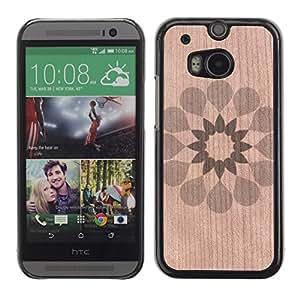 - / Floral Pattern Spring Pretty Minimalist - - Funda Delgada Cubierta Case Cover de Madera / FOR HTC M8 One 2 / Jordan Colourful Shop/