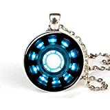 Tony Stark Arc Reactor Inspired Necklace Iron Man Round Arc Reactor