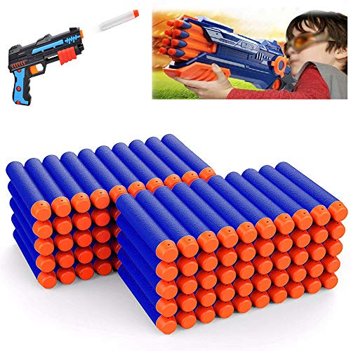 100PCS Refill Form Darts Soft Bullets for Nerf N-strike Elite Blasters Kid Toy Guns (Blue)