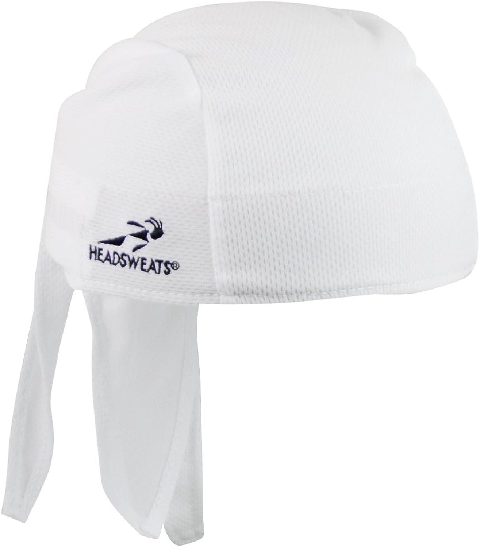 HEADSWEATS COOLMAX GEARS SHORTY BICYCLE CYCLING CAP HAT BANDANA NEW WHITE
