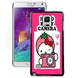 NEW DIY Unique Designed Samsung Galaxy Note 4 Phone Case For Hello Kitty Camera Phone Case Cover