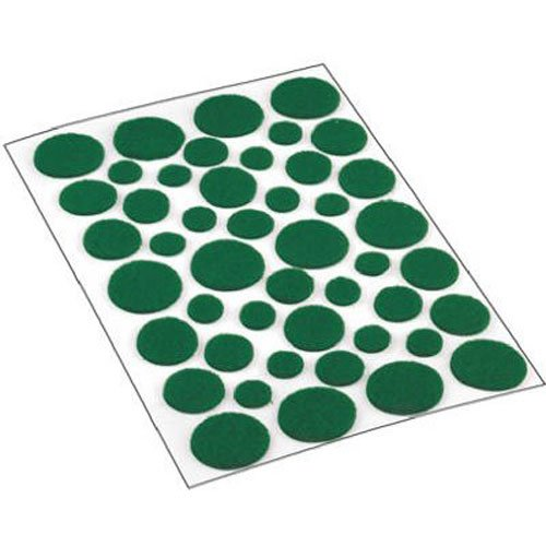 Felt Dots (Shepherd Hardware 9423 Self-Adhesive Felt Surface Protection Pads, Assorted Sizes, 46-Count, Green)