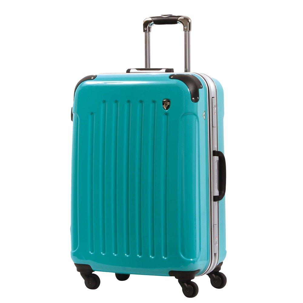 [グリフィンランド]_Griffinland TSAロック搭載 スーツケース 軽量 アルミフレーム ミラー加工 newPC7000 フレーム開閉式 B0721MKYRM LM型|ナイルグリーン ナイルグリーン LM型