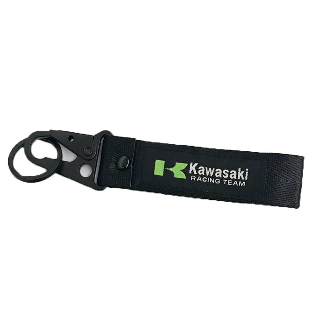 Ninja Black Racing Motor Woven Label Tag Key Chain for Automobile Car Motor Key Ring Accessory Karabiner Shackle Kawasaki