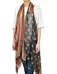 Faded American Flag Sleeveless Cardigan Vest