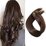 "18"" Dark Brown Clip in Human Hair Extensions"