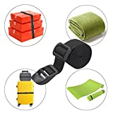 Wisdompro Sleeping Bag Strap, Luggage Strap, 2-Pack of Heavy Duty Straps - Utility Strap for Outdoor Sports, Backpacking, Sleeping Bag Compression, Luggage, Bundling, with Plastic Buckle