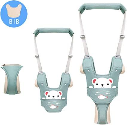 Autbye Baby Walking Assistant Green-a Adjustable Toddler Walking Harness Handle Baby Walker with Detachable Crotch /& Bib,Breathable and Comfortable for Toddlers Infant Learning to Walk