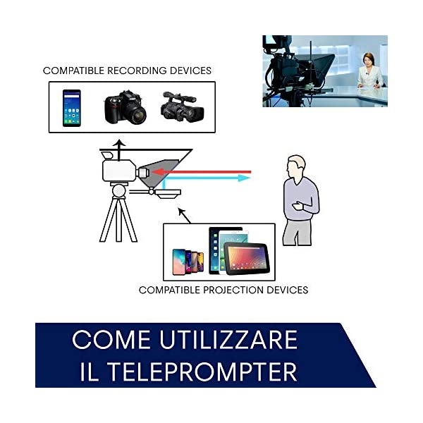 Teleprompter by Leeventi v. 3.0 (Grande schermo riflettente) 5 spesavip