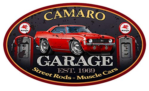 1969 Camaro SS Hardtop Muscle Car GARAGE SIGN Wall Art Graphic Decal Sticker (3 Ft)