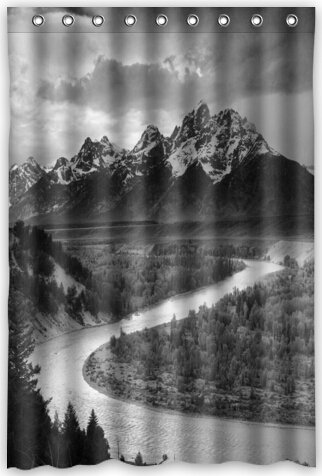 Funny Design Ansel Adams The Tetons And Snake River Shower Curtain 48quotw