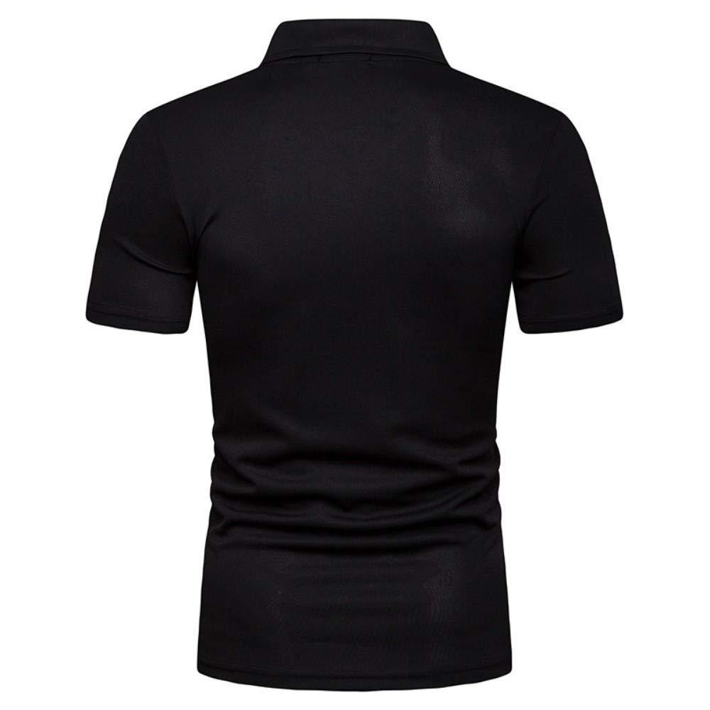 NISHISHOUZI Polo,Polo Hombre Slim Fit con Cuello En V Camiseta ...