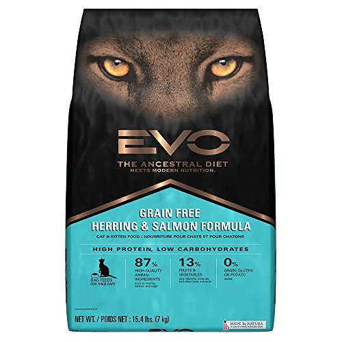 EVO Grain Free Herring and Salmon Formula Cat and Kitten Foo