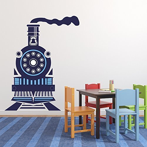 Amazoncom Train Engine Vinyl Wall Decal Home Decor Sticker For - Vinyl wall decals home party