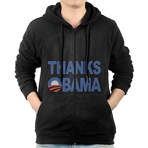 Thanks Obama 2008-2016 Men Sweatshirt Pullover Hoodie Sports Long-Sleeve With (President 2008 Hooded Sweatshirt)