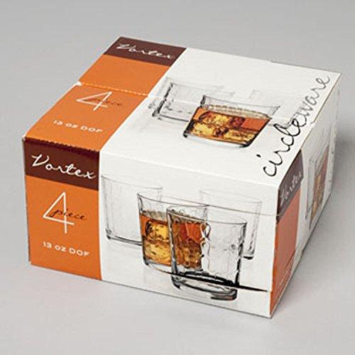 Drinking Glasses Vortex by Circleware-Set of 4 (13 Oz DOF)