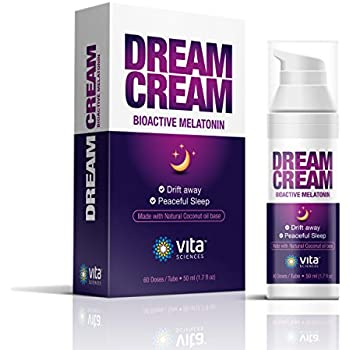 Melatonin Cream for Your Dream Sleep - Super Convenient Way to Use Each Pump is 3mg of Melatonin. Dab on Your Wrist and Drift Away.