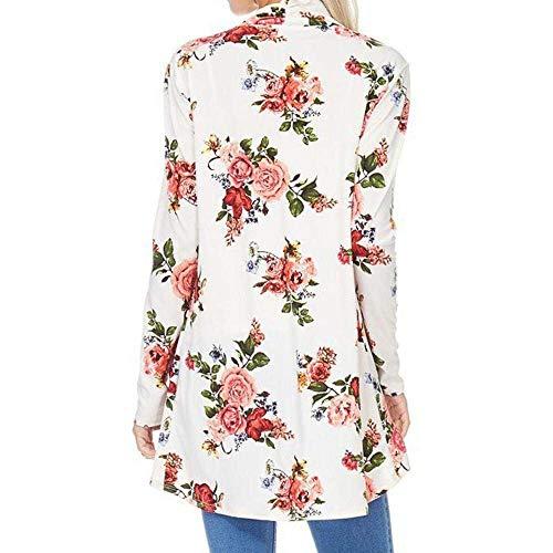 Kimono Outwear Elegante di Vintage Estate Mode Hipster Tunica Asimmetrica marca Casuali Estivi Cardigan Moda Cappotto Donna Lunga Floreali Manica Confortevole Moda q4twARf4x