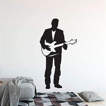pegatinas de pared frases star wars Cantante de guitarra eléctrica Hombre con guitarra Inicio Música Club Decoración Cantante de guitarra para sala de ...
