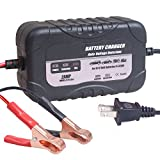 KATBO 2Amp Smart Battery Charger Automatic Battery Charger Maintainer Sealed Lead Acid Trickle Battery Charger Maintainer for Car Motorcycle Lawn Mower ATVs RVs Powersports