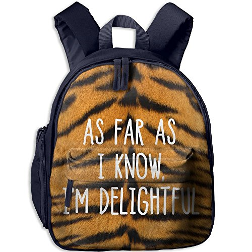 As Far As I Konw I'm Delightful Hot Sale Child Shoulder School Bag School Backpack Satchel For Teens Boys Girls Students (Boutique Costumes Halloween Paris)
