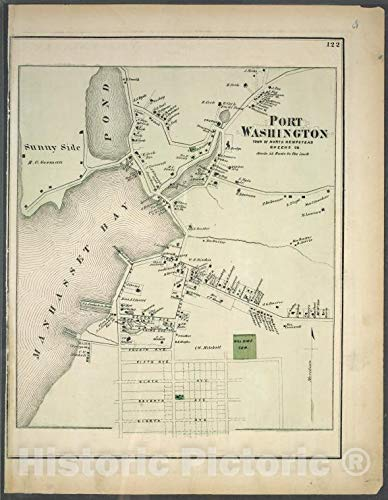 - Historic Map | 1873 Long Island, New York, (N.Y.), Port Washington, Town of Hempstead, Queens Co. | Vintage Wall Décor | 24in x 30in