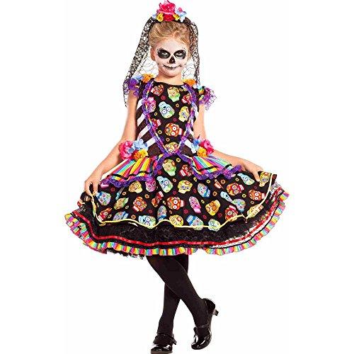 Senorita Costume Makeup (Sugar Skull Senorita Kids Costume)
