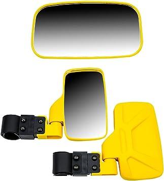 """Grey Break Away Side /& Rear View Mirror UTV Offroad Wide View w// 1.75/"""" Cage"""