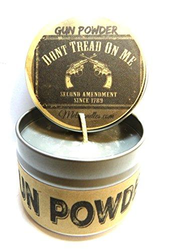 Gun Powder - 4 Oz All Natural Soy Candle Tin Approximate Bur