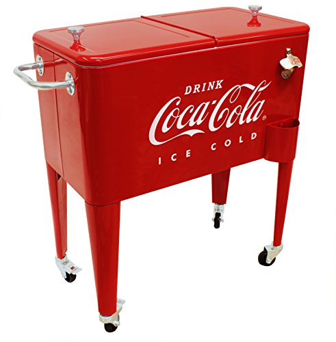 Stand Up Cooler (Leigh Country CP 98105 60 Qt Coca-Cola Ice Cold (Embossed) Cooler,)