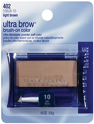 Maybelline New York Ultra-Brow Brow Powder, Shade #10 Light Brown, 0.1 Ounce
