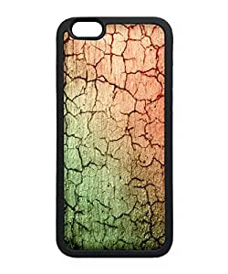VUTTOO Iphone 6 Plus Case, Cracked Concrete Texture TPU Case for Apple Iphone 6 Plus 5.5 Inch Black