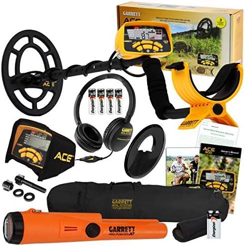 Garrett ACE 400 Metal Detector with DD Waterproof Coil, Metal Scoop, and Edge Digger