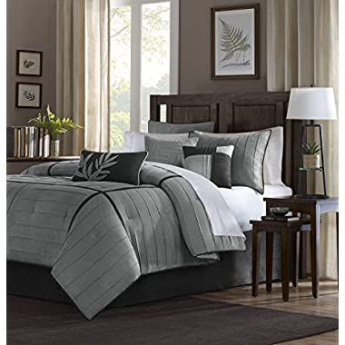 Madison Park Connell 6 Piece Duvet Cover Set, King/California King, Grey