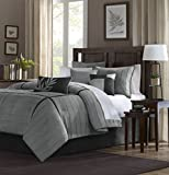 Madison Park Dune Comforter Set, Full, Grey