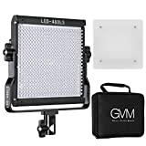 GVM LED Video Light, Dimmable Bi-Color, Lighting for YouTube Studio Photography, Upgrade LED Panel with LCD Screen, Video Shooting with Light Stand Kit, 480 LED Beads, 2300K-6800K, CRI 97+