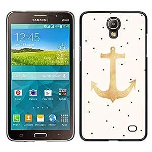 LECELL--Funda protectora / Cubierta / Piel For Samsung Galaxy Mega 2 -- Dot ancla del oro Barco Mar Verano --