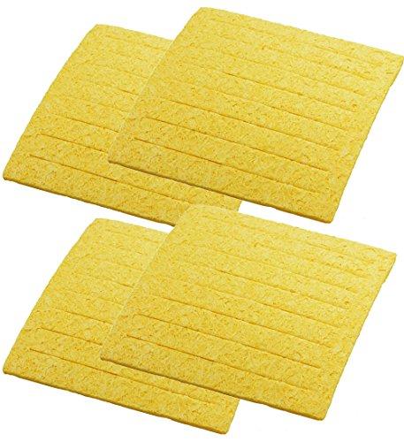 Weller TC205 ( PACK OF 4) Solder Tip Cleaning Sponge with Slits, 2-5/8