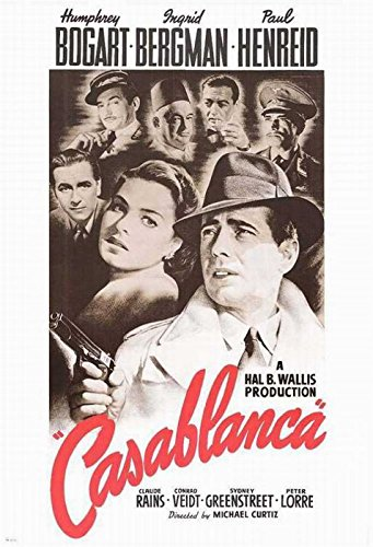 Bergman Movie Poster - Casablanca - Movie Poster: Regular (Size: 24'' x 36'') (By POSTER STOP ONLINE)