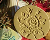 Brown Bag Moss Rose Cookie Stamp - Art Nouveau Flower Series
