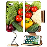 MSD Premium Apple iPhone 7 Flip Pu Leather Wallet Case IMAGE ID: 30589440 Fresh vegetables close up