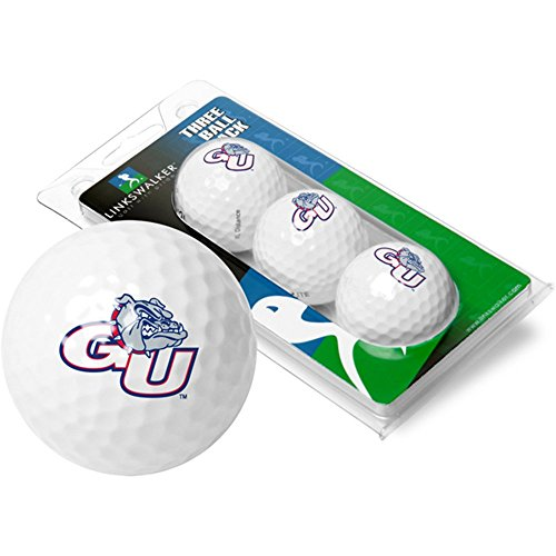 Bulldogs Logo Golf Balls (NCAA Gonzaga Bulldogs - 3 Golf Ball Sleeve)