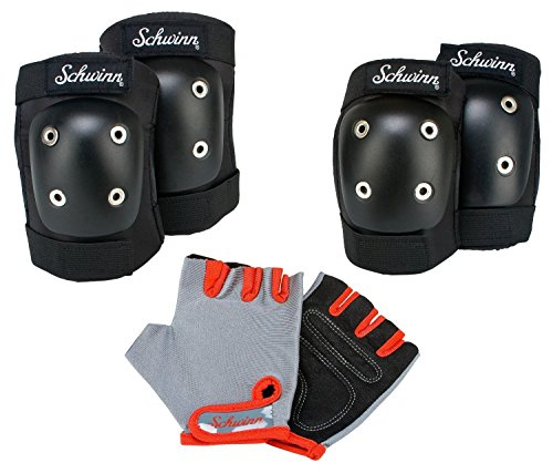 Schwinn Child's Pad Set with Knee Elbow and Gloves Riding Skating Biking Safety