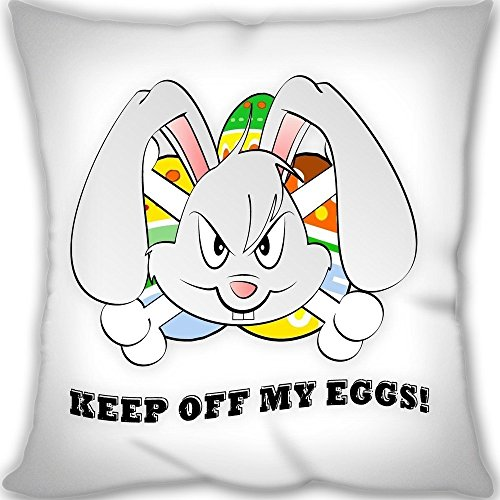 DKLZY Angry Bunny Easter Custom Design Throw Pillow Queen Si