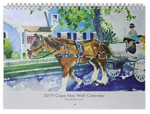 Willow Creek Cottage - 2020 Cape May NJ Wall Calendar - Chalfonte Merion Inn Angel of the Sea Congress Hall Stockton Cottages Carriage Ride Cape May Beach Willow Creek Winery Peter Shields Inn Southern Mansion and more