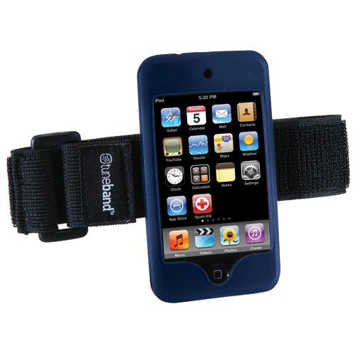 Tuneband, Grantwood Technology's Armband, Silicone Skin, and Screen Protector for iPod Touch 8GB/16GB/32GB/64GB (2nd and 3rd Generation),NAVY BLUE (Ipod Touch 2nd Generation Vs 3rd Generation)